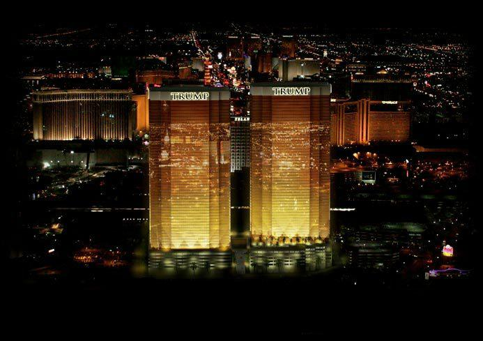 distance from trump vegas mirage