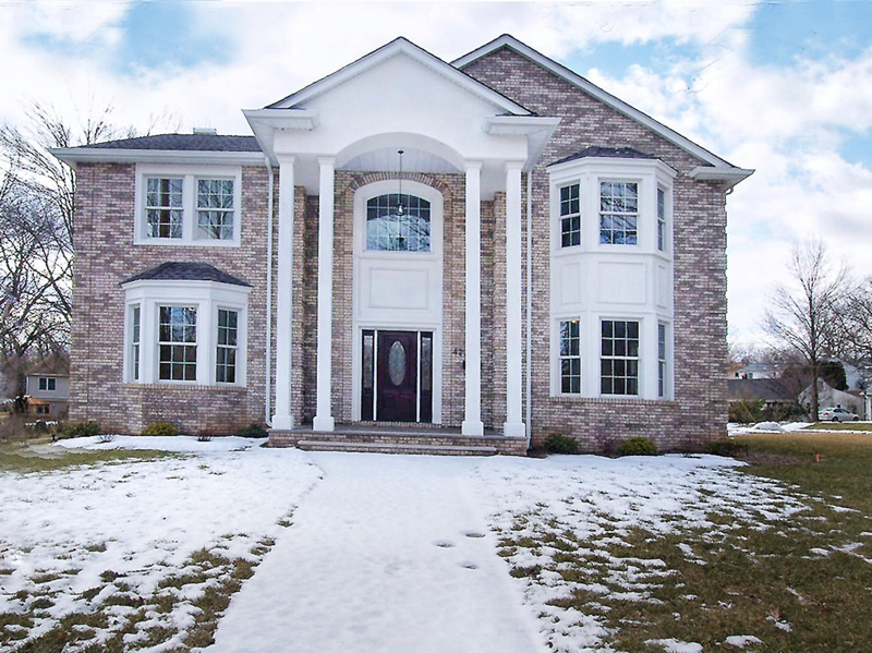 Paramus new construction brand new paramus colonial home for Colonial style homes for sale