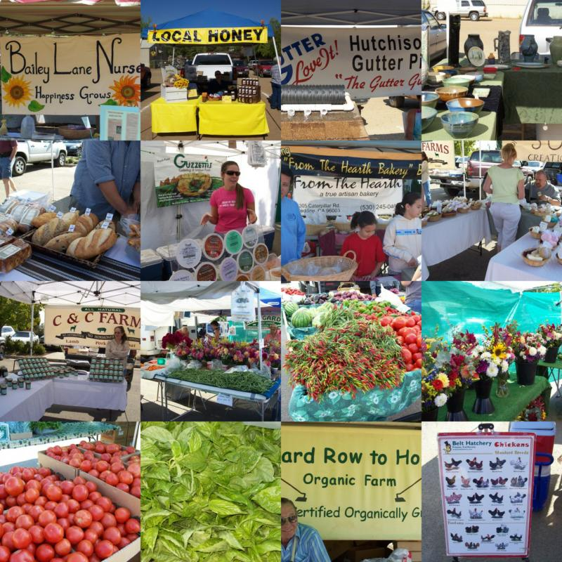 Redding's Farmer's Market Collage