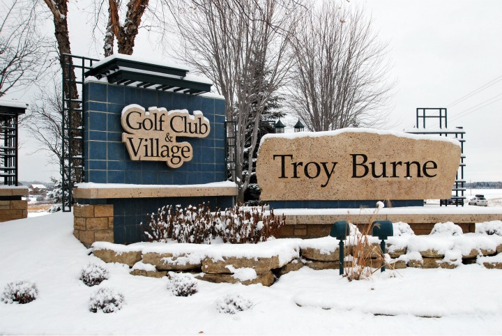 Troy Burne Golf Village Monuments in Winter