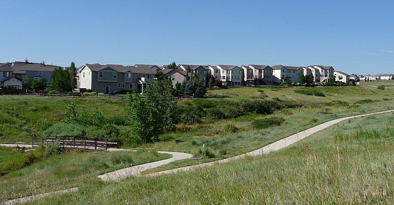 Lantern Hill Highlands Ranch and greenbelt area