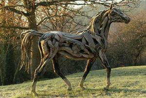 Horse Made From Driftwood