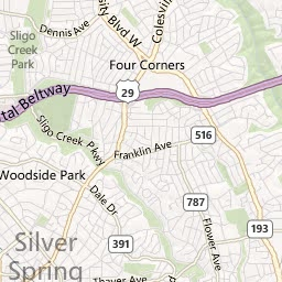 Silver Spring Close-In Map