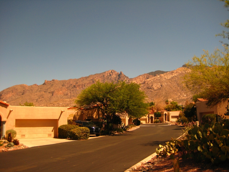 Mountain views at Kachina Hills Gated Townhomes Community