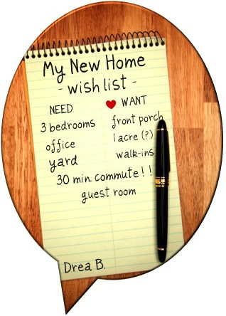 home buying wishlist