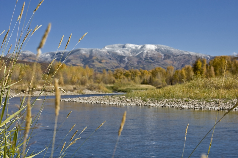 Streamboat Springs in the fall with the Yampa River