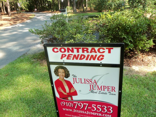 photo of contract pending rider for the Jumper Real Estate Team in fayetteville nc