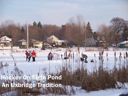 Hockey On Elgin Pond