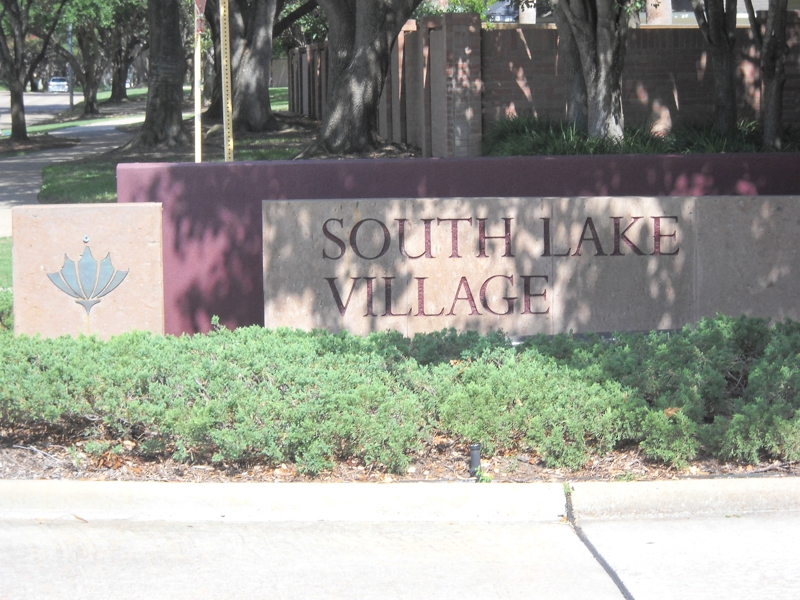 Sign for South Lake Village Cinco Ranch Katy, Texas