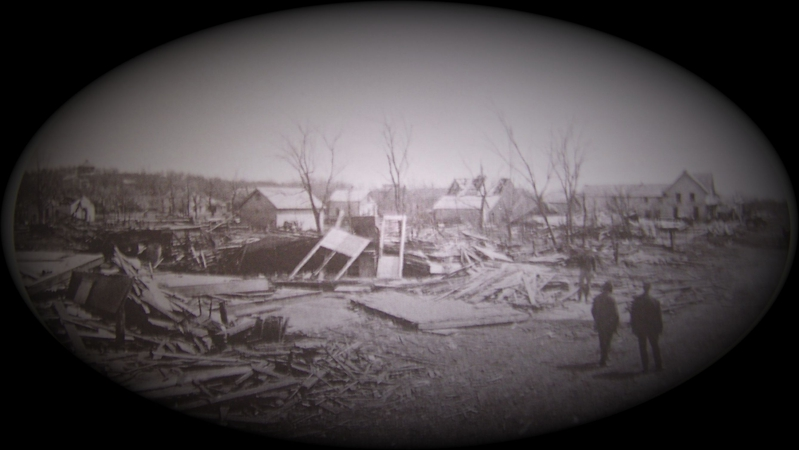 Picture of Sauk Rapids from the Cyclone of 1886