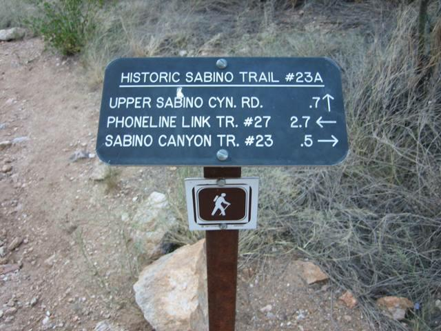 Phoneline Link Trail Sabino Canyon