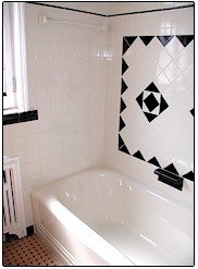 Reglazing tile in Westchester NY - pink bathroom - after