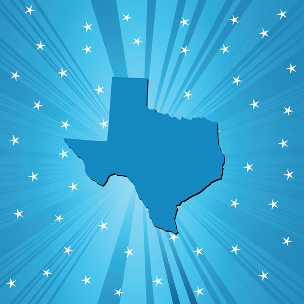 clipart of texas showcased in the stars