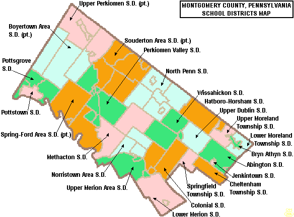 map of montgomery county school districts