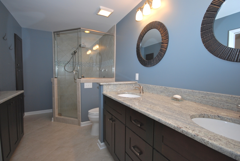 Renovated master bath at 4424 Asherton DR in Quail View neighborhood