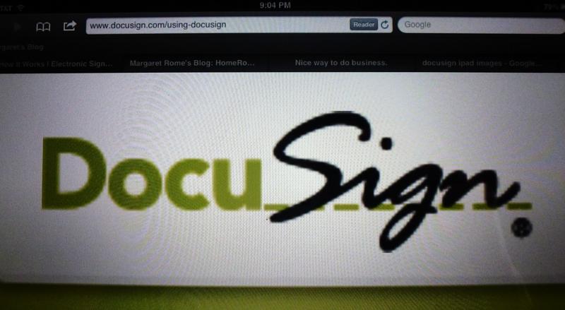 docusign on iPad