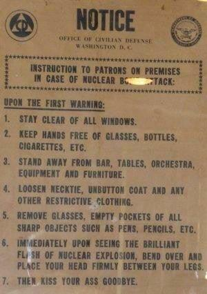 In Case of Nuclear Attack Sign HomeRome Realty