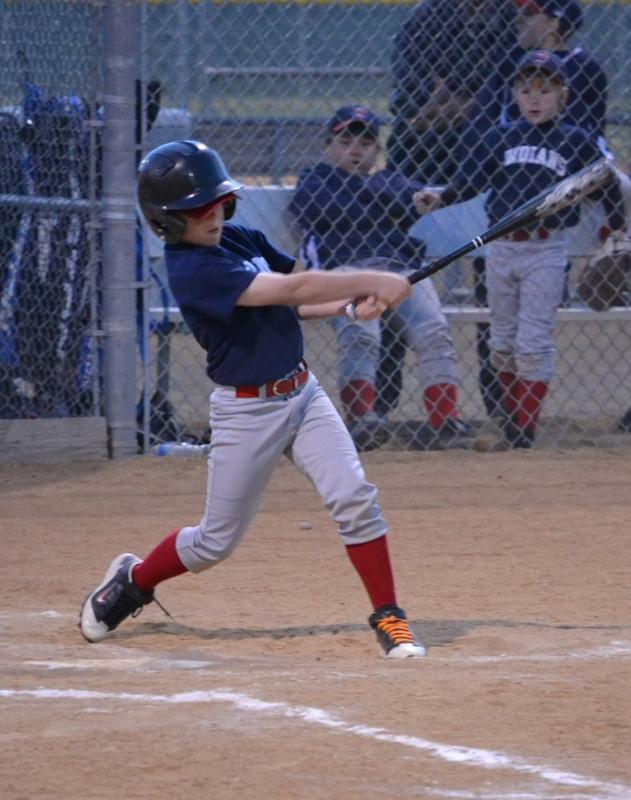 Gabe Wetzel Home run  carson vlley little league