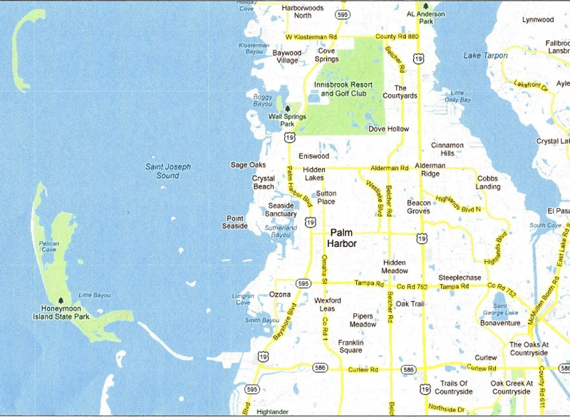 Palm Harbor Florida Map Submited Images