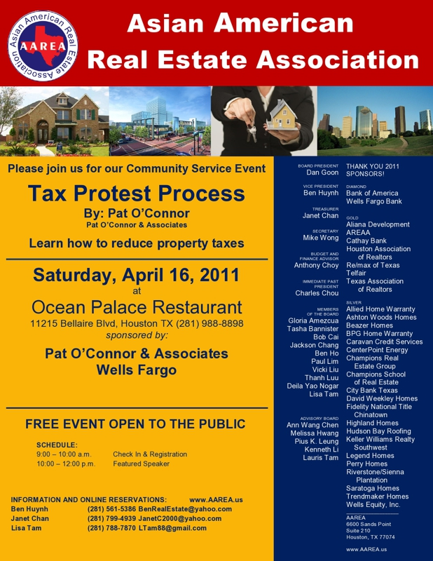 Property Tax Protest Seminar on April 16, 2011