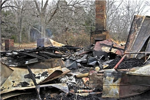 House burned in fire
