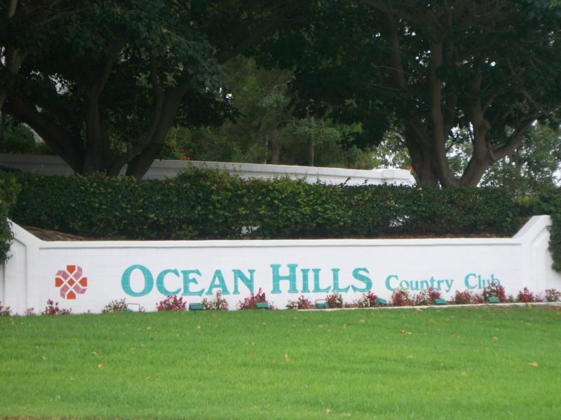 Entrance to Ocean Hills Country Club in Oceanside California
