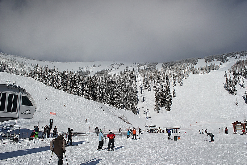 Schweitzer Mountain has over 2,600 skiable acres