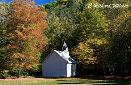 Palmer Chapel in the Great Smoky Mountains National Park by Richard Weisser