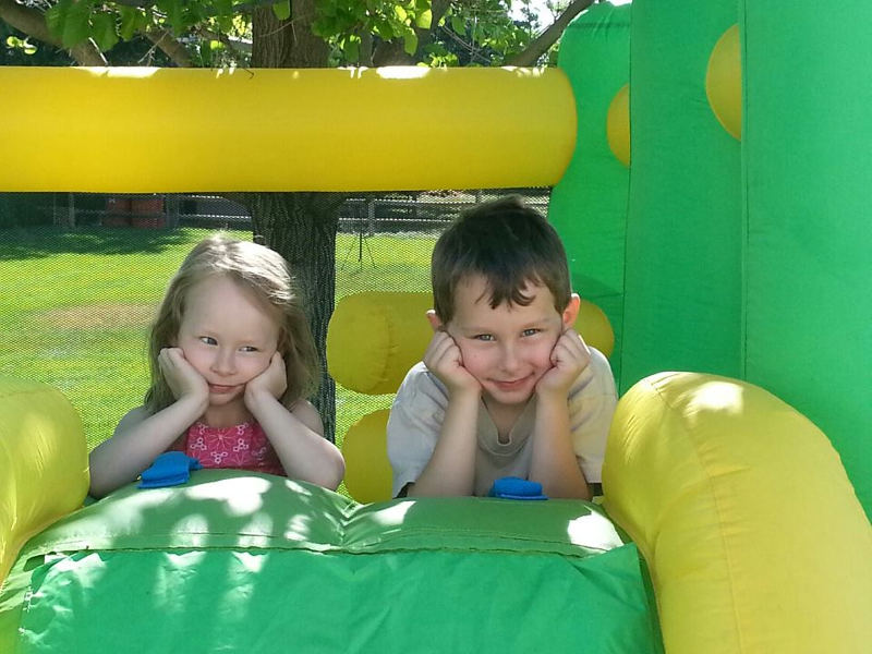 Kids in the bouncy house!