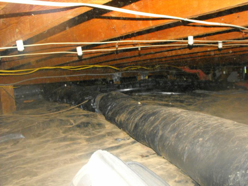 Unsupported flexible ductwork
