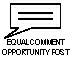 Equal Comment Opportunity Post Logo Image