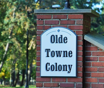 Hudson Ohio Olde Towne Colony Neighborhood Photos