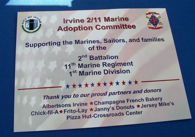 2/11 Marine Corps adoption committee