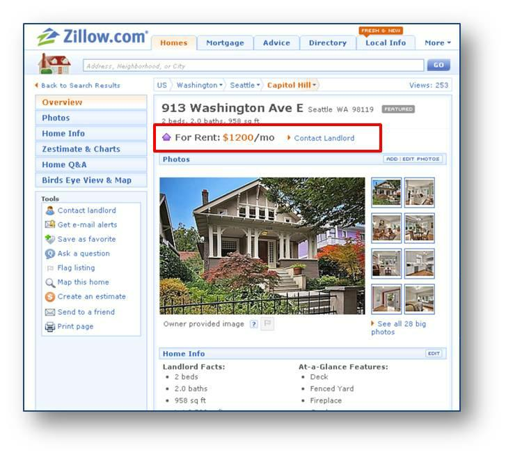 Homes For Rent Search: Zillow Announces Rental Listings