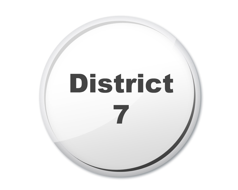 district 7 button