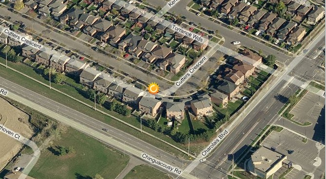 Bird's Eye View Of 34 Cutters Cres, Brampton