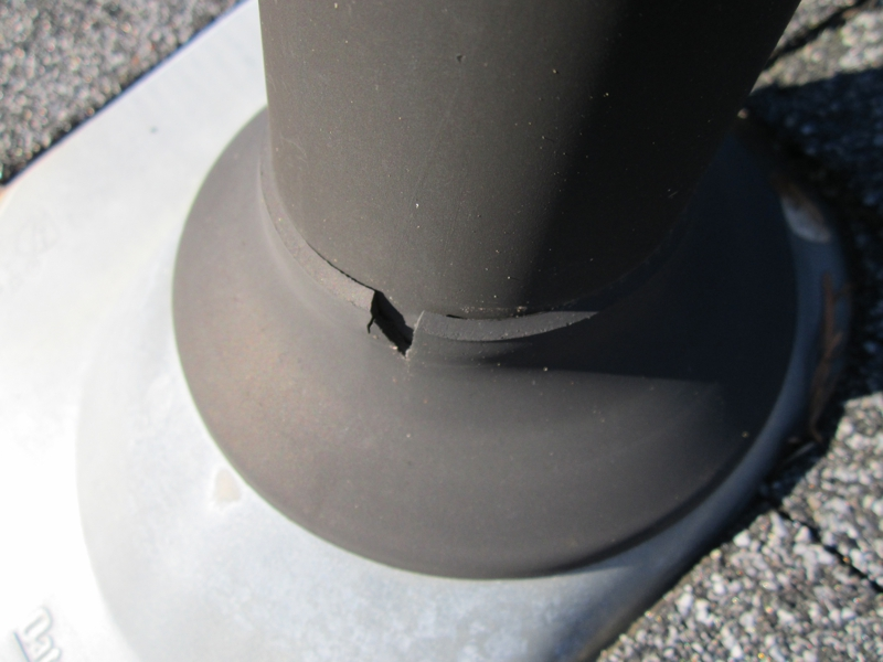 common roof leak points cracked plumbing vent bootsjacks typically after 1011 15 years post installation - Roof Boots