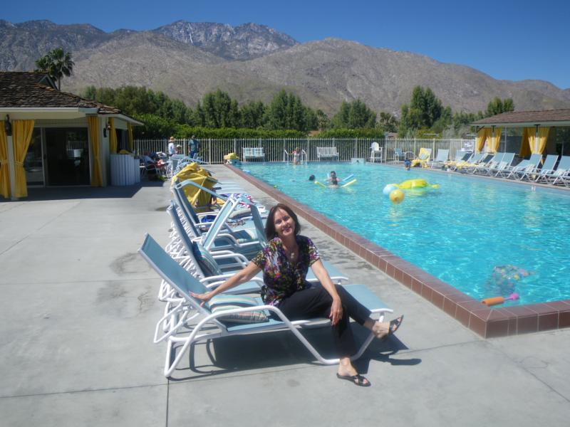 Mary Poolside Chez Smoke Tree Ranch Palm Springs