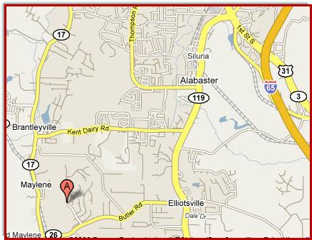 Location Map Grande View Estates Alabaster Alabama