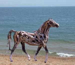 Heather Jansch Horses made from driftwood