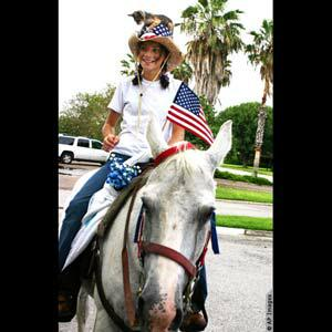 Fourth of July on horse