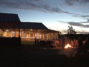 Tyee Estate Winery in the evening