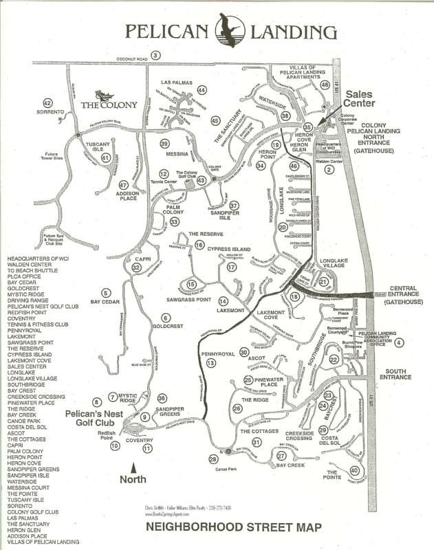 Pelican Landing Community Map - Bonita Springs Florida