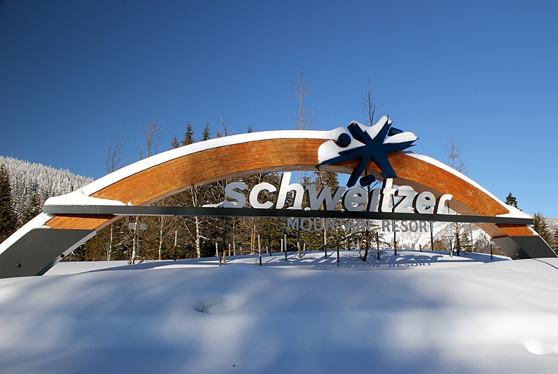 Entering Schweitzer Mountain Ski Resort