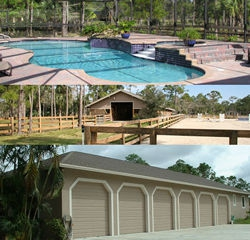 6 car garage oversize screened pool 7 stall barn and a home too in south florida - 6 Car Garage