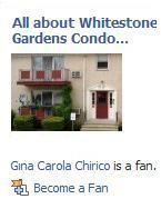 Become a Fan of All About Whitestone Gardens Condo, Bloomfield New Jersey on Facebook