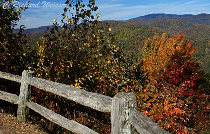 Cataloochee Overlook in the Great Smoky Mountains National Park