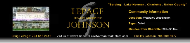 Chatelaine Homes for Sale Gated Luxury Home Community Charlotte NC