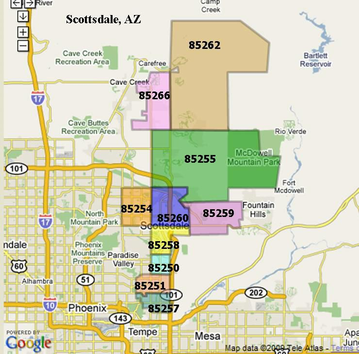 Map Of Phoenix With Zip Codes Images