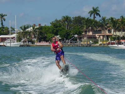 Rick wakeboarding